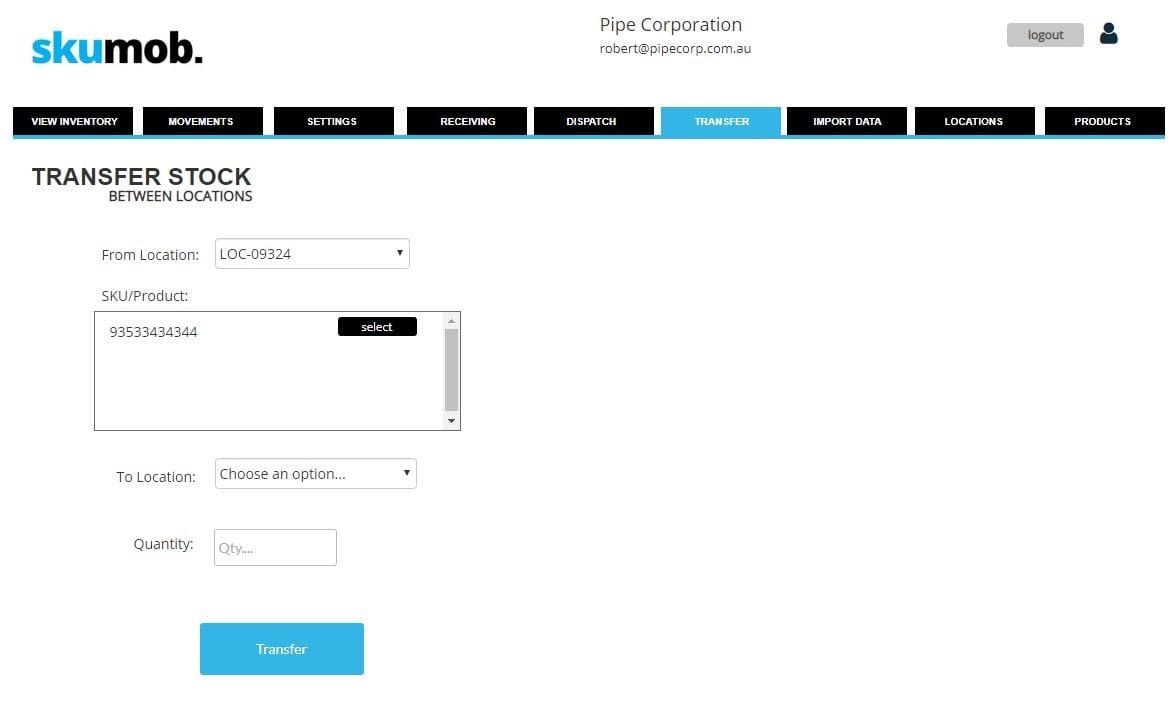 stock transfer screenshot 2