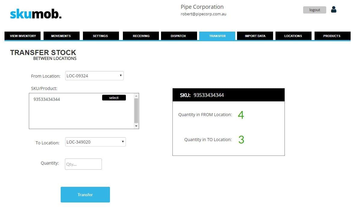 stock transfer screenshot 1